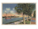St Petersburg  FL - View of Coffee Pot Bayou &amp; Isle