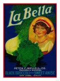 San Jose  California - La Bella Vegetable Label