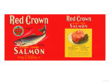 Red Crown Brand Salmon Label - Seattle  WA