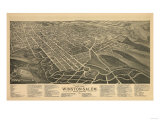 Winston-Salem  North Carolina - Panoramic Map