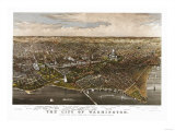 District of Columbia  Washington - Panoramic Map