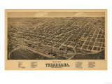 Texarkana  Texas - Panoramic Map
