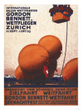 Zurich  Switzerland - Gordon Bennett Hot-Air Balloon Race Poster