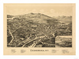Ticonderoga  New York - Panoramic Map