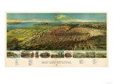 Salt Lake City  Utah - Panoramic Map