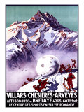 Villars  Switzerland - Naughty Gnomes Making Giant Snowball Poster