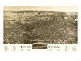 Saratoga Springs  New York - Panoramic Map