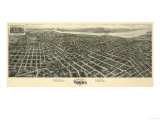 Tulsa  Oklahoma - Panoramic Map