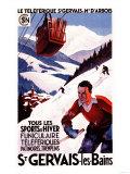 St Gervais-Les-Bains  France - SNCF Railway Cable Car Promo Poster