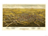 Somerville  New Jersey - Panoramic Map