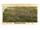 Stamford  Connecticut - Panoramic Map