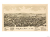 Schuylerville  New York - Panoramic Map