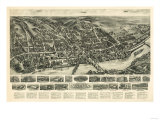 Shelton  Connecticut - Panoramic Map