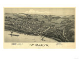 Saint Marys  West Virginia - Panoramic Map