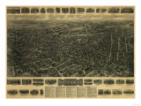 Waterbury  Connecticut - Panoramic Map