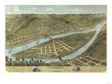 Wheeling  West Virginia - Panoramic Map