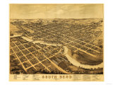 South Bend  Indiana - Panoramic Map
