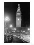 Exterior View of Ferry Building at Night - San Francisco  CA