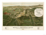 Wauwatosa  Wisconsin - Panoramic Map