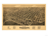 Texarkana  Arkansas - Panoramic Map