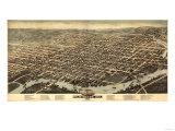 Wilmington  Delaware - Panoramic Map