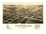 Valdosta  Georgia - Panoramic Map