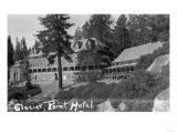 Exterior View of the Glacier Point Hotel - Yosemite National Park  CA