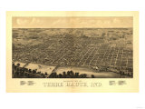 Terre Haute  Indiana - Panoramic Map