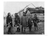 Eskimo Berry Pickers in Nome  Alaska Photograph - Nome  AK