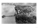 Coupeville  WA View from Air Whidby Island Photograph - Coupeville  WA