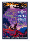 La Route Des Alpes Vintage Poster - Europe