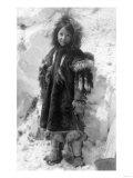 Eskimo Girl in a Parka in Nome  Alaska Photograph - Nome  AK