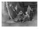 Glass Blower and Mold Boy Photograph - Grafton  WV