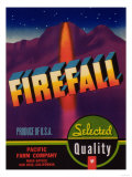Firefall Vegetable Label - San Jose  CA