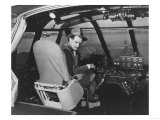 Howard Hughes in Spruce Goose Wooden Plane Photograph - Los Angeles  CA