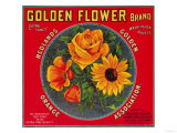 Golden Flower Orange Label - Redlands  CA