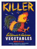 Killer Vegetable Label - Los Angeles  CA