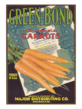 Green Bond Carrot Label - Salinas  CA