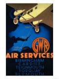GWR Air Services Vintage Poster - Europe