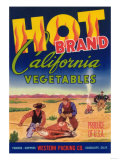 Hot Vegetable Label - Guadalupe  CA