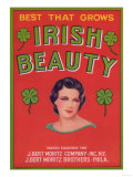 Irish Beauty Vegetable Label - New York  NY
