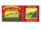 Kodiak Salmon Can Label - Kodiak Island  AK