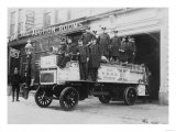 Firefighters on a Fire Engine Photograph - New York  NY