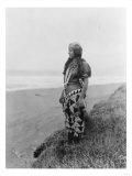 Indian Woman in Primitive Dress Edward Curtis Photograph