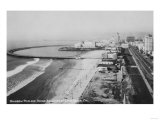 Long Beach  California Rainbow Pier and Ocean Blvd Photograph - Long Beach  CA