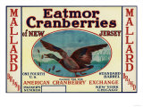 Mallard Eatmor Cranberries Brand Label
