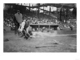 Lou Gehrig Sliding into Home Plate Baseball Photograph - New York  NY