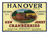Hanover Brand Cranberry Label