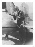 Howard Hughes Pilot Boarding Plane in Full Uniform Photograph - Newark  NJ