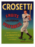 Crosetti Vegetable Label - Watsonville  CA